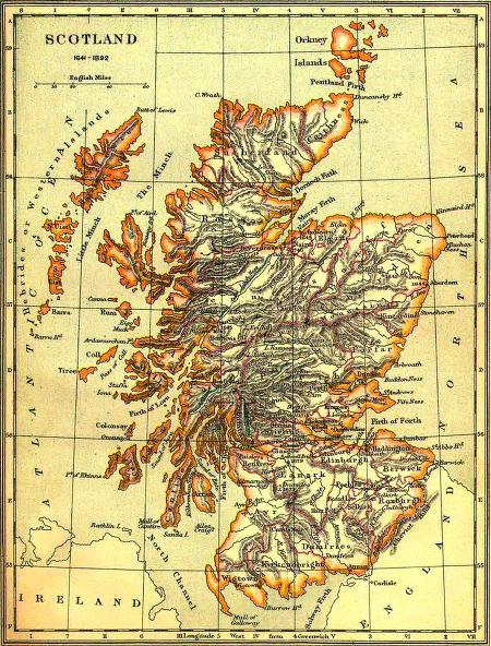Map of Scotland 1641-1892