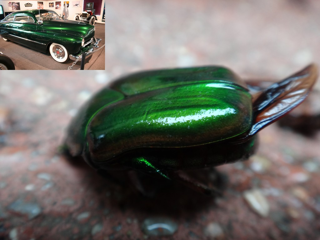 Green June Bug and Hot Rod