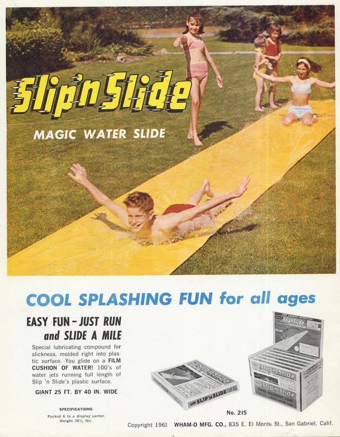vintage slip n slide ad from 1961